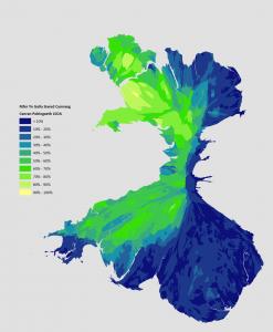 Cartogram Y Frô Cymraeg