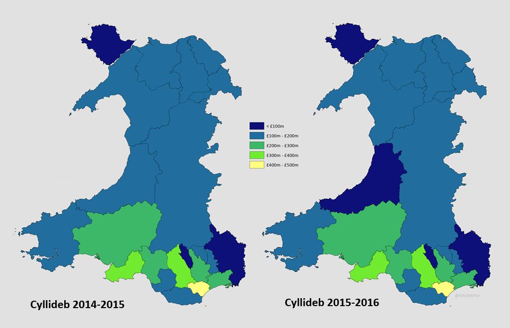 Map Cymharu Cyllideb
