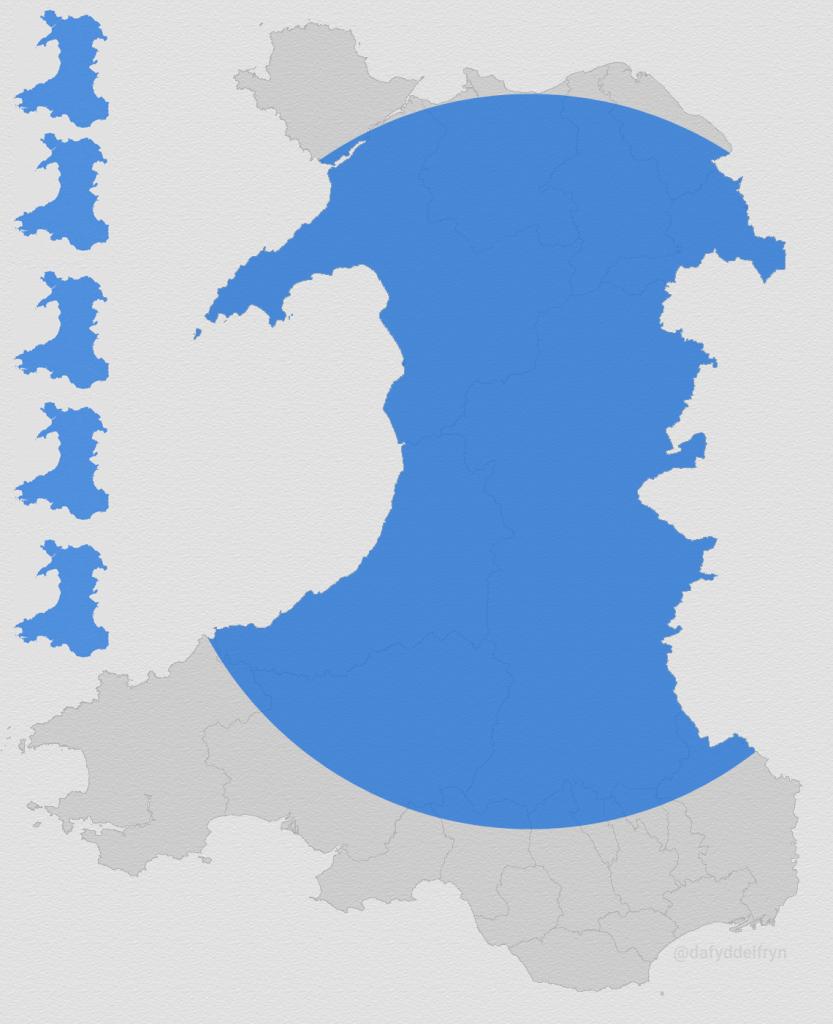 Dwysedd Poblogaeth Powys