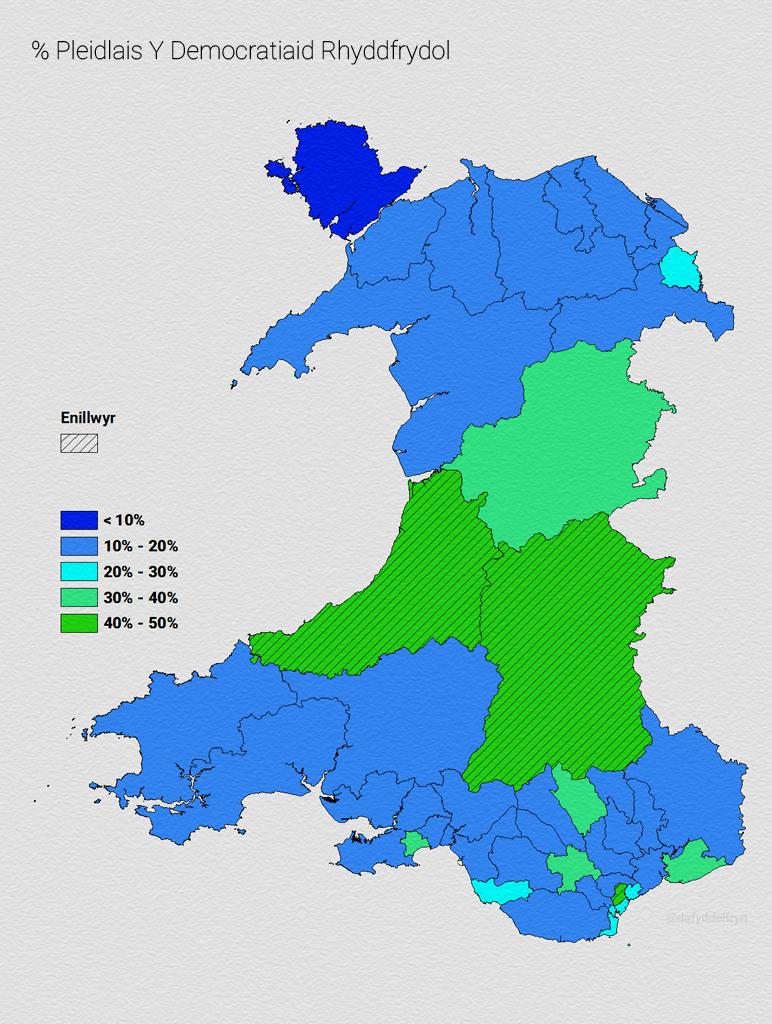 Map Democratiaid Rhyddfrydol 2010