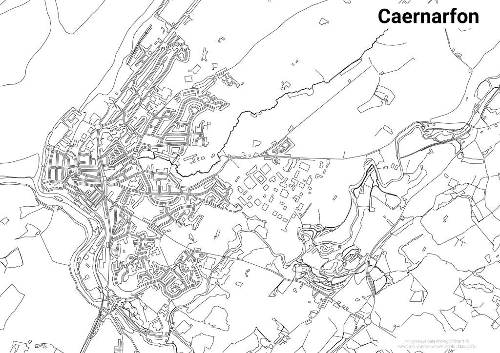 Lliwio Map – Caernarfon