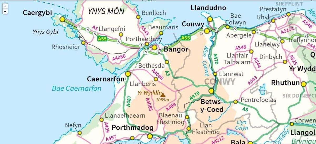 Map OS Cymraeg