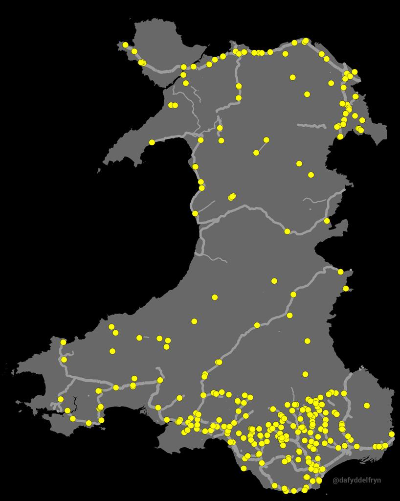 Map Rheilffyrdd
