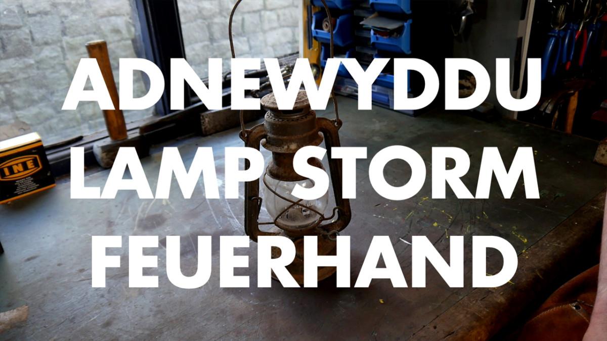 Yn Y Shed – Adnewyddu Lamp Storm